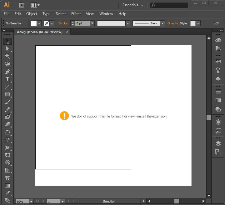 전문 그래픽 편집 도구로 SVG 파일 열기